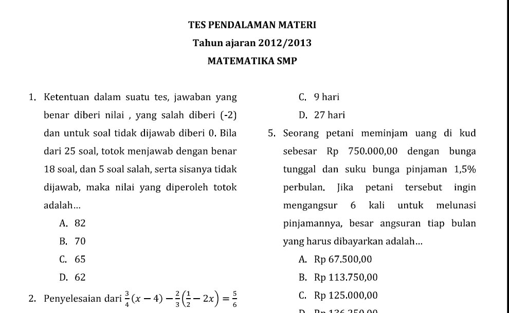 Download Tpm Matematika Smp 2012 2013 Erfan
